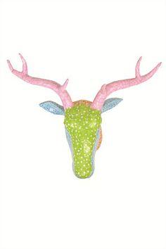 Deer Head - Paper Mache
