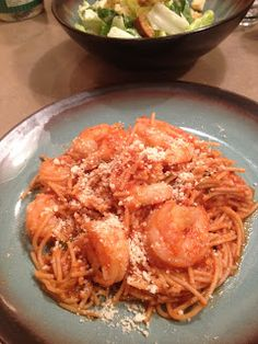 Marinara Shrimp Pasta | The Blonde Can Cook