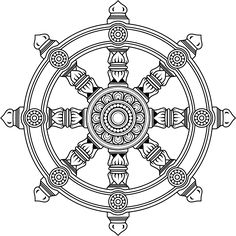 What the Dharmachakra (or Dharma Wheel) Represents to