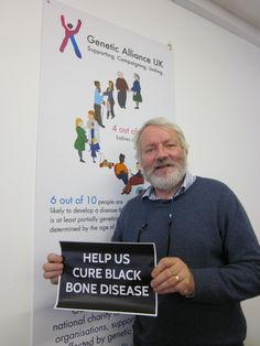 Genetic Alliance UK's Chairman, joining the #HelpCureAKU campaign to raise awareness of the world's first genetic disease.