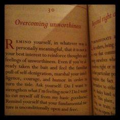 overcoming unworthiness -- from the pocket pema chodron