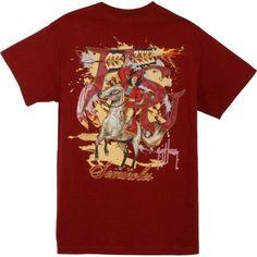 Guy Harvey Men's Florida State Seminoles Garnet (Red) T-Shirt, Size: Medium
