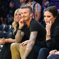 David & Victoria Beckham's intimate at the LA Lakers Game  Photos were posted on 03 May 2012 at 3:13pm    David Beckham and Victoria Beckham were spotted at the Los Angeles Lakers basketball game at Staples Center last night (May 1).    The English soccer stud and his beautiful wife were joined by David's mother and sister as they watched the game from their primo court side seats – with the night coming as an early birthday celebration for David, who turns 37-years-old today
