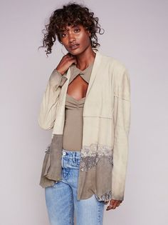 Floral Lace Suede Jacket from Free People!