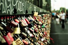 love lock put a lock on then through the key into the river below!!!!!!!!!!!!!!!!!!!!!!!!!!!!!!!!!!!!:)