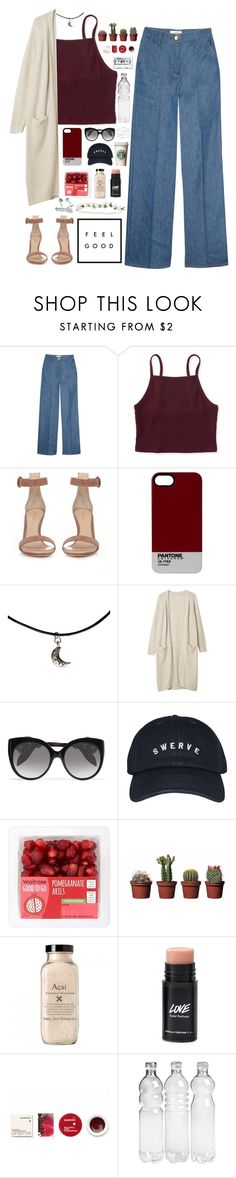 """nvr gon quit"" by neightasha ❤ liked on Polyvore featuring Valentino, Aéropostale, Gianvito Rossi, Pantone, Monki, Alexander McQueen, Korres, Veras and vintage"