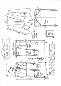 Coat Patterns, Dress Sewing Patterns, Sewing Patterns Free, Clothing Patterns, Blazer Pattern, Jacket Pattern, Sewing Hacks, Sewing Tutorials, Sewing Collars