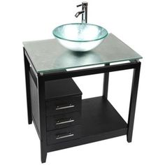 A Gold Foil tempered glass surface and vessel tops this sparkling, contemporary bathroom vanity. Gold Foil tempered glass (colors may vary slightly). Style # at Lamps Plus. Single Sink Bathroom Vanity, Glass Bathroom, Contemporary Vanity, Beach Bathrooms, Bath Decor, Lowes Home Improvements, Vanity Set, Gold Foil, Top