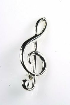 """G Clef Stick Pin in Silver Noteables. $4.79. Silver-colored G Clef stick pin. 1"""" x 2 1/2"""""""