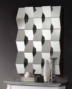 "Espejo decorativo ""Dikar"" rectangular con lunas rectangulares en diferentes planos. Se puede colocar en posición horizontal o vertical. 108cm x 75cm http://www.ibergada.com/index.php?route=product/product&product_id=2268&search=dikar"