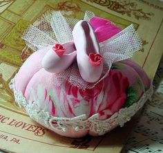 Ballet Slippers Pincushion