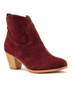 Look at this Wine Tiff Bootie on #zulily today!