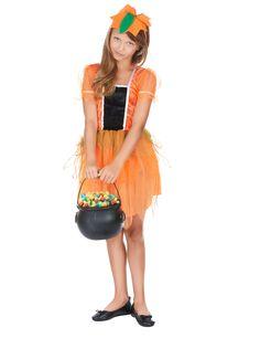 Este disfraz de hada calabaza es perfecto para la fiesta de Halloween