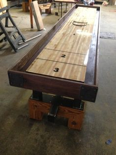 District Mfg Shuffleboard Table A High End Fancy