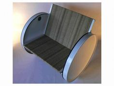 Recycled metal barrels - this would be soooo much fun to sit in (once I put cushions down)
