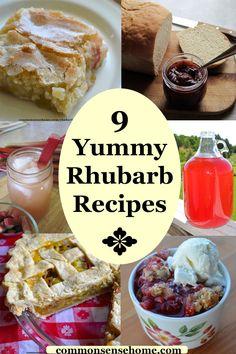 Rhubarb Pudding Cake (Plus 9 More Yummy Rhubarb Recipes) Rhubarb Pudding Cake, Rhubarb Cake, Rhubarb Desserts, Rhubarb Recipes, Sweet Recipes, Cake Recipes, Dessert Recipes, Baking Desserts, Cakes Plus