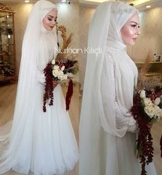 If you want your photos to be forgotten and be dream like on the plateau that we cannot get enough of looking at, with and @ Informations About Nurhan Kılıçlı Makeup Studio on … Wedding Hijab Styles, Muslim Wedding Dresses, Bridesmaid Dresses, Muslim Brides, Muslim Couples, Bridal Hijab, Hijab Bride, Bridal Gowns, Hijab Style Dress