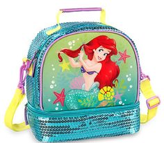 Disney Store Ariel Lunch Box Bag Tote School Teal The Little Mermaid New 2016 #TheDisneyStore