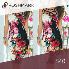SIZE LARGE SEXY FLORAL WITH CAGE TOP MORE COMING SOON!! BRAND NEW!!!  JUST LIKE PIX..actual item shown in pix 2 n 3 SIZE MEDIUM Dresses Midi