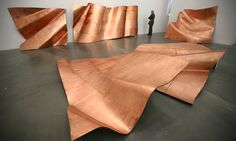 """Danh Vo's """"We The People,"""" copper fragments of a full-size replica of the Statue of Liberty, is featured in """"The Ungovernables: 2012 New Museum Triennial""""."""