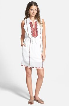 Madewell+'Nora'+Embroidered+Tunic+Dress+available+at+#Nordstrom