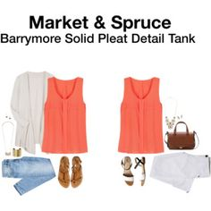 Ideas - Plain but detailed top. Cute! Market & Spruce Barrymore Solid Pleat Detail Tank from Stitch Fix