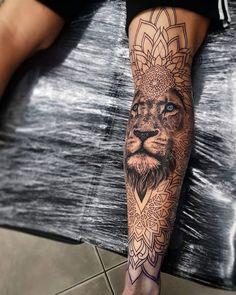 Tattoos, man leg tattoo, calf sleeve tattoo, animal mandala tattoo, men a. Best Leg Tattoos, Trendy Tattoos, Forearm Tattoos, Unique Tattoos, Body Art Tattoos, New Tattoos, Tatoos, Life Tattoos, Tattoo Drawings