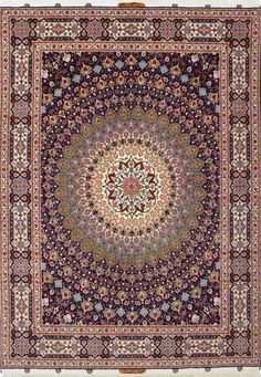 Persian Qum 60 Raj silk and wool rug
