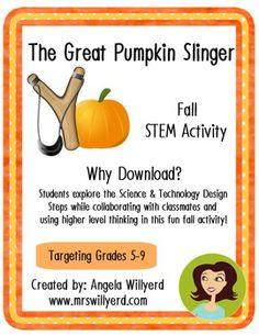 The Great Pumpkin Slinger - Fall Stem Activity
