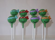 teenage mutant ninja turtles cake pops