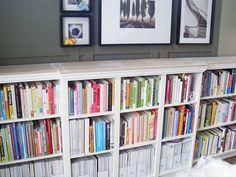 dyi built in bookcase using ikea shelves