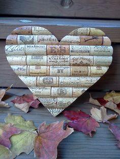 Wine cork heart wine decor wine lover wedding by PersonalizedCorks Wine Craft, Wine Cork Crafts, Wine Bottle Crafts, Crafts To Do, Arts And Crafts, Diy Crafts, Diy Cork, Wine Cork Projects, Wine Cork Art