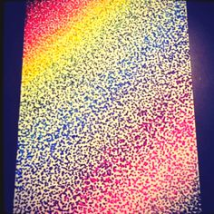 Rainbow Sharpie Pointillism I made