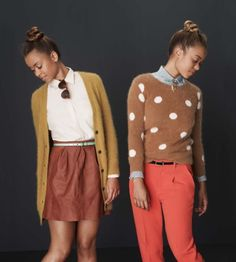 madewell holiday collection. orange bottoms... sigh.