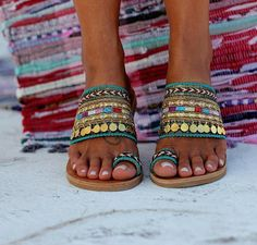 Handcrafted Greek leather sandals Handmade shoes