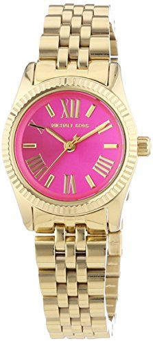 Michael Kors Watches : Michael Kors Mini Lexington Pink Dial Goldtone Ladies Watch - Check this awesome product by going to the link at the image. - Watches Topia - Watches: Best Lists, Trends & the Latest Styles Pre Owned Watches, Watches For Men, Women's Watches, Cheap Watches, Mk Watch, Gold Watch, Luxury Watch Brands, Famous Brands, Michael Kors Watch