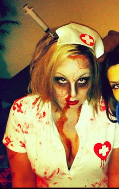 Halloween Makeup. MP.love the syringe in the head!!