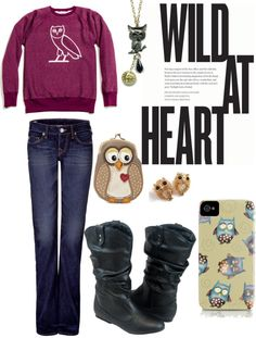 """""""owls 2"""" by zoeysmon ❤ liked on Polyvore"""