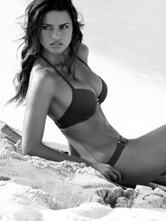 Adriana Lima sexy in black & white! More sexy models http://sexy-calendars.com