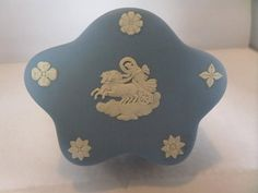 A Wedgwood Jasper pentagon shape trinket box. It has a horse and angel on the top and It has figures all round the sides of the box and the lid sits well. Pentagon Shape, Breakfast Set, Flower Spray, Wedgwood, Trinket Boxes, My Etsy Shop, Shapes, Check, Breakfast Nook Set
