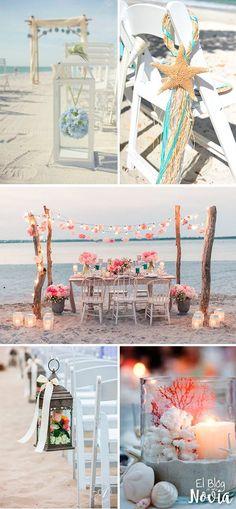 Boda en la playa: Ideas de decoración