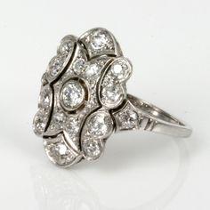 1920S Art Deco Engagement Ring | 1920s Art Deco diamond ring in platinum, Art Deco rings & engagement ...