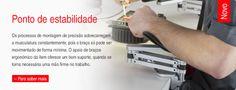 item - Os componentes modulares que constituem o Sistema de Kits de Montagem MB (perfis de alumínio, guias lineares, perfis aço inox) são combinados de várias maneiras para se construirem máquinas, estruturas e linhas de montagem completas.