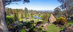 View from the Symbolic Mountain in the gardens in Cowra, Australia