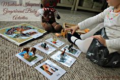 Montessori Inspired Gingerbread Baby Activities-Montessori Inspired Gingerbread Baby by Jan Brett Activities, Toddlers, Books, crafts, matching and more www.naturalbeachliving.com