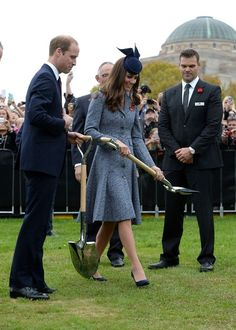 Prince William and Kate Middleton attend the ANZAC Day Ceremony in Canberra during their tour of Australia.... April 25, 2014