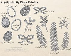 Pretty Pines Thinlits sizes shared by Dawn Olchefske #dostamping #stampinup