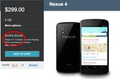 The LG Nexus 4 smartphone is either extremely popular, or Google and LG need some serious work on their sales skills. Every new batch sells out in practically no time! The Play Store became almost unusable as Google warned users they still had it in stock. But what about shipping times? Last night Google updated [...]