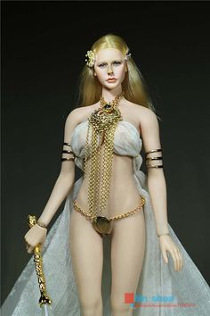 """Custom 1//6 Scale Clothing For 12/"""" Phicen Female Large Bust Figure God Of Love"""