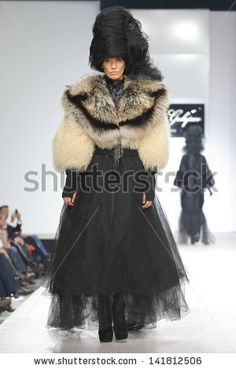 MOSCOW - OCTOBER 21:The model walks a runway in a collection of Igor Gulyaev, Volvo Fashion Week October 21, 2010 in Moscow, Russia